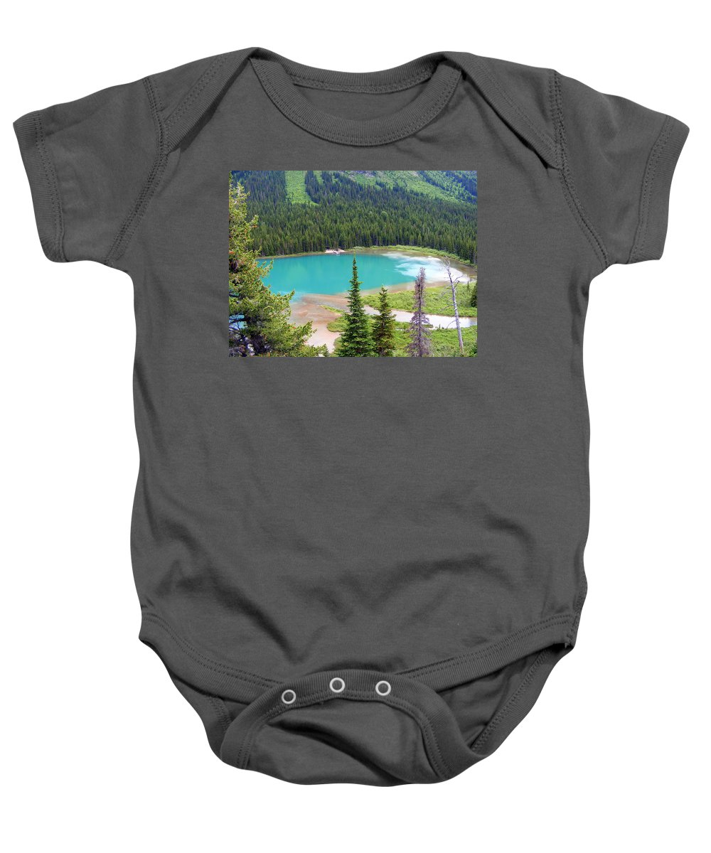 Mountains Baby Onesie featuring the photograph Lake Josephine by Mark Hudon