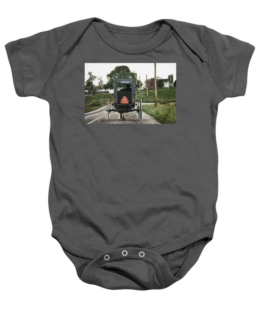Lancaster Roads Baby Onesie featuring the photograph Lancaster Roads by Wes and Dotty Weber