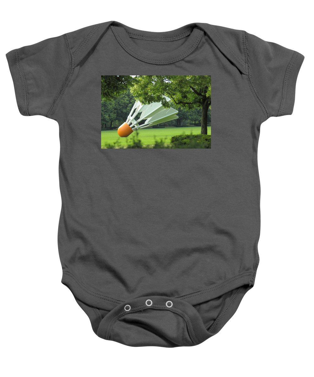 Kansas City Baby Onesie featuring the photograph Land Of Giants by Ken Kobe