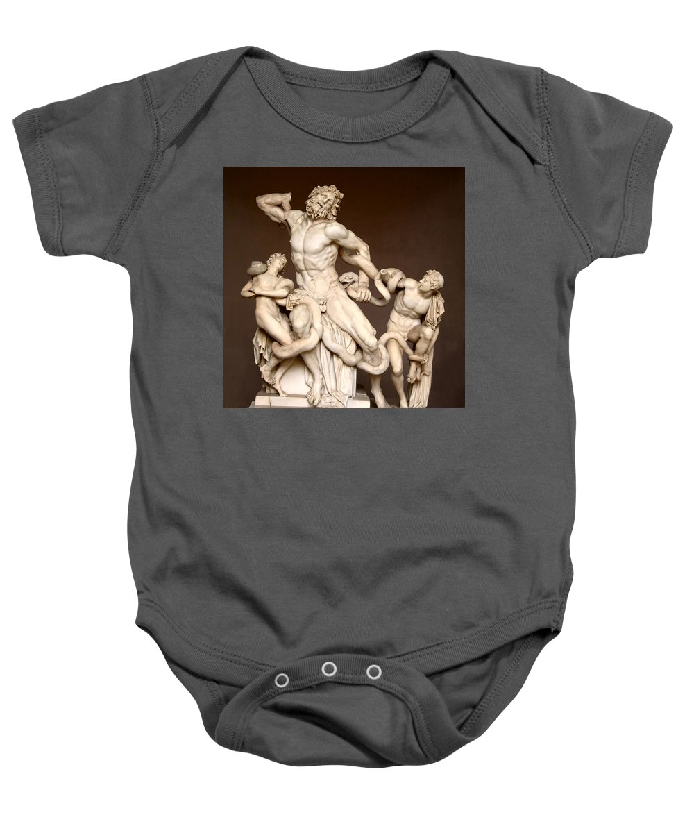 Laocoon And Sons Baby Onesie featuring the photograph Laocoon And Sons by Ellen Henneke