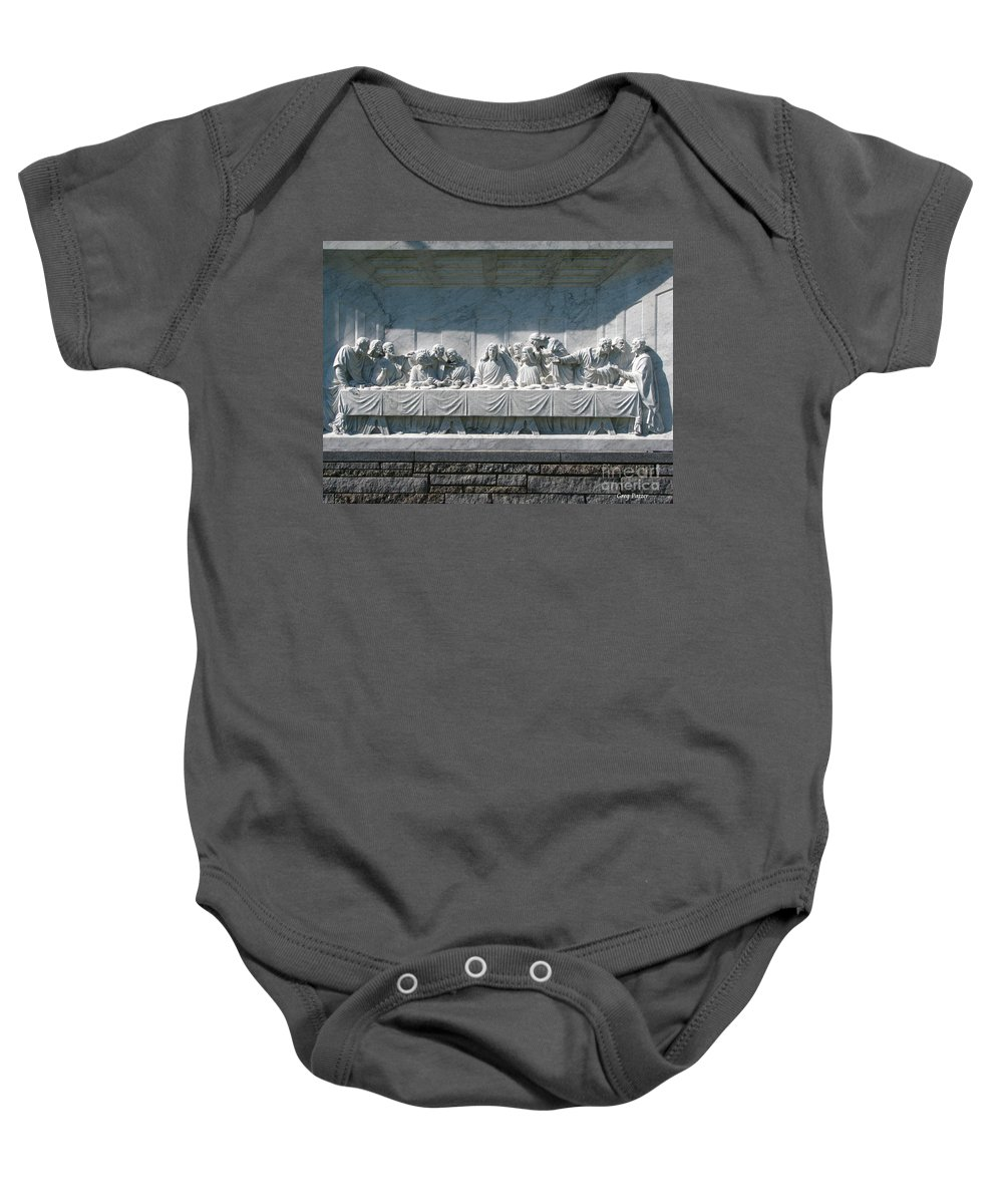 Art For The Wall...patzer Photography Baby Onesie featuring the photograph Last Supper by Greg Patzer