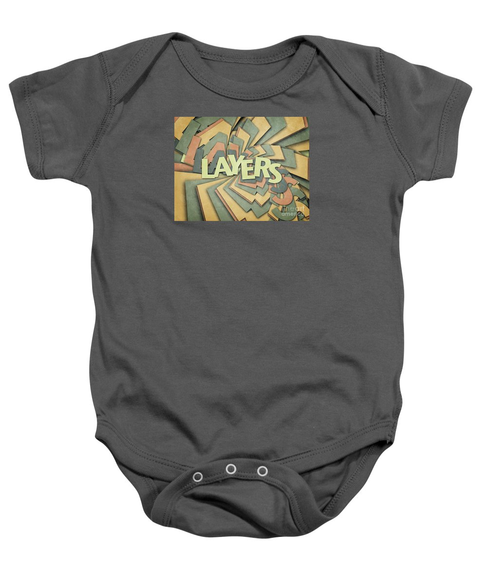 Layers Baby Onesie featuring the digital art Layers by Phil Perkins
