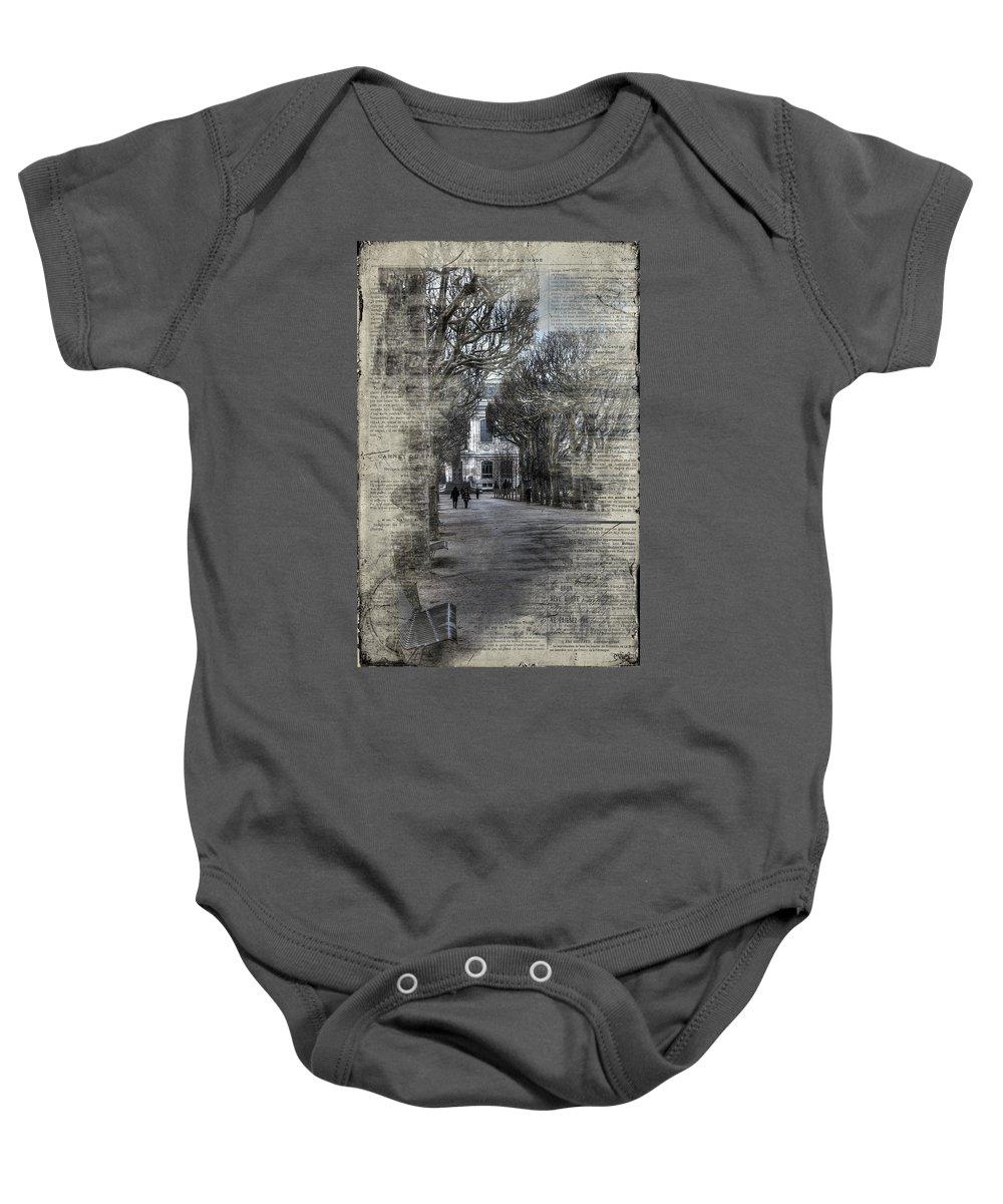 Arch Baby Onesie featuring the photograph Le Moniteur De La Mode by Evie Carrier