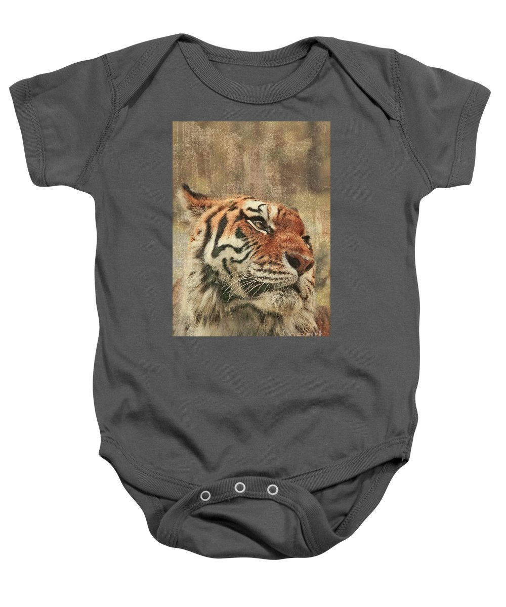 Tiger Baby Onesie featuring the photograph Le Reveur by Aimelle
