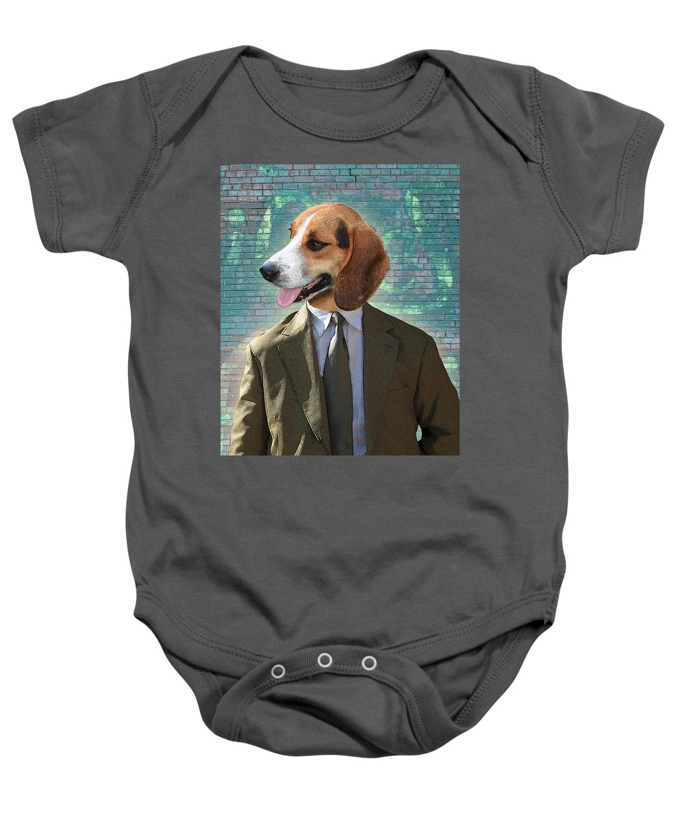 Legal Baby Onesie featuring the digital art Legal Beagle by Nikki Smith