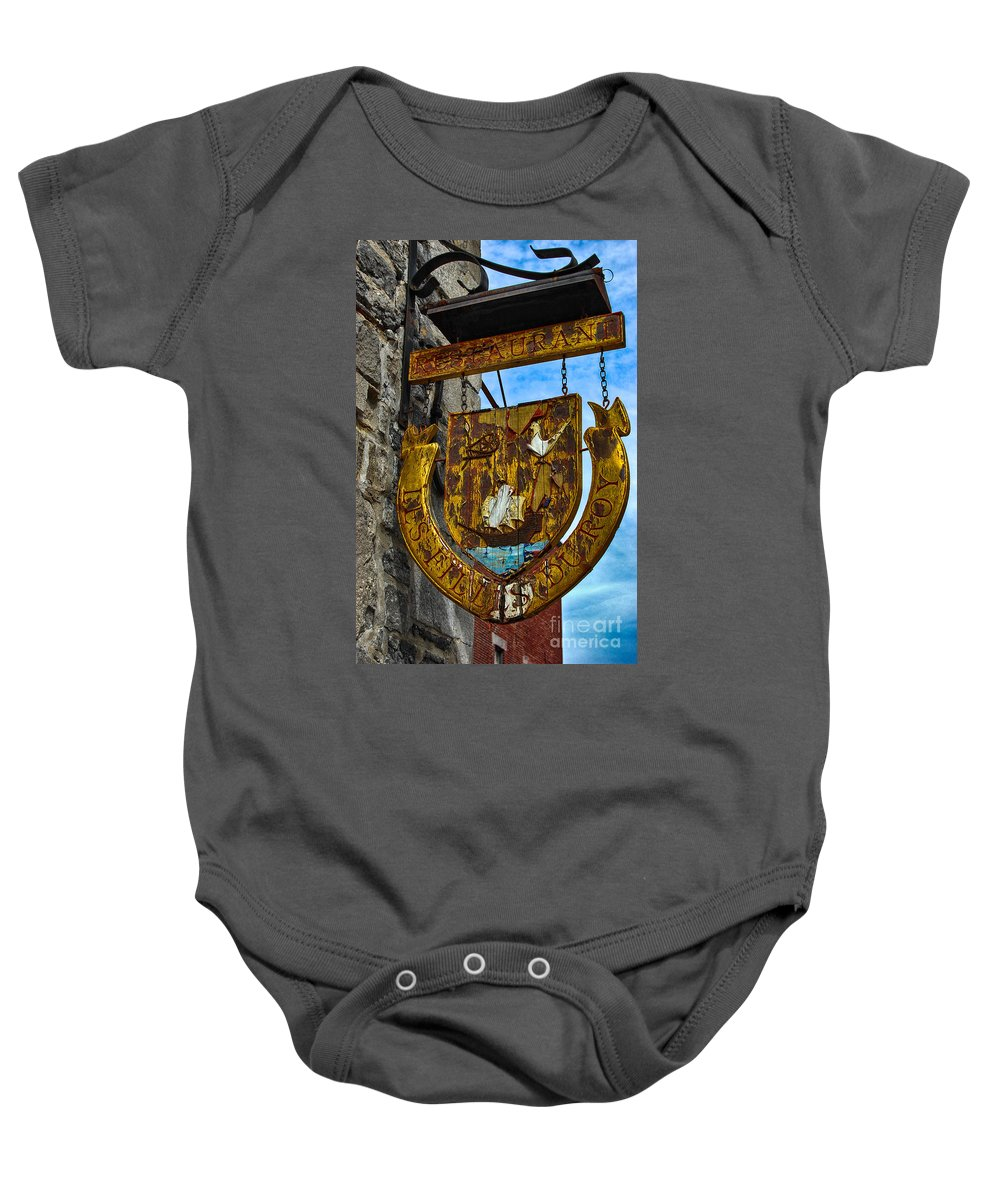Sign Baby Onesie featuring the photograph Les Filles Du Roy by Bianca Nadeau