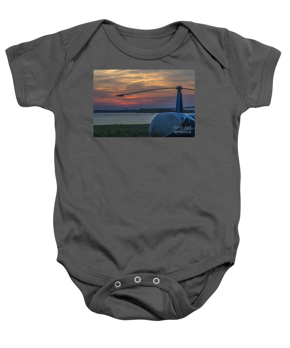 Sunset Baby Onesie featuring the photograph Lets Go Flying by Dale Powell