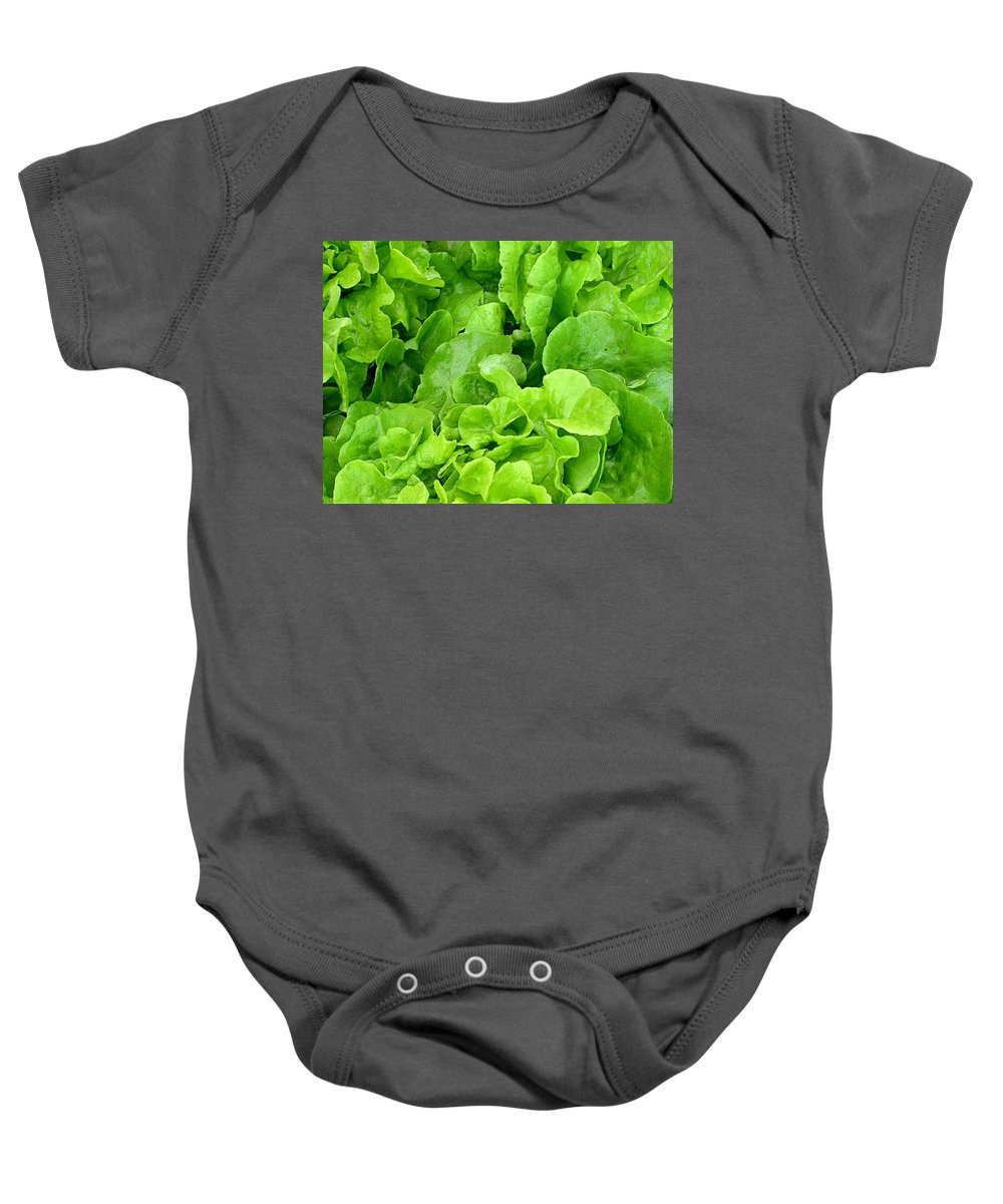 Lettuce Picture Baby Onesie featuring the photograph Lettuce Sing by Cynthia Wallentine
