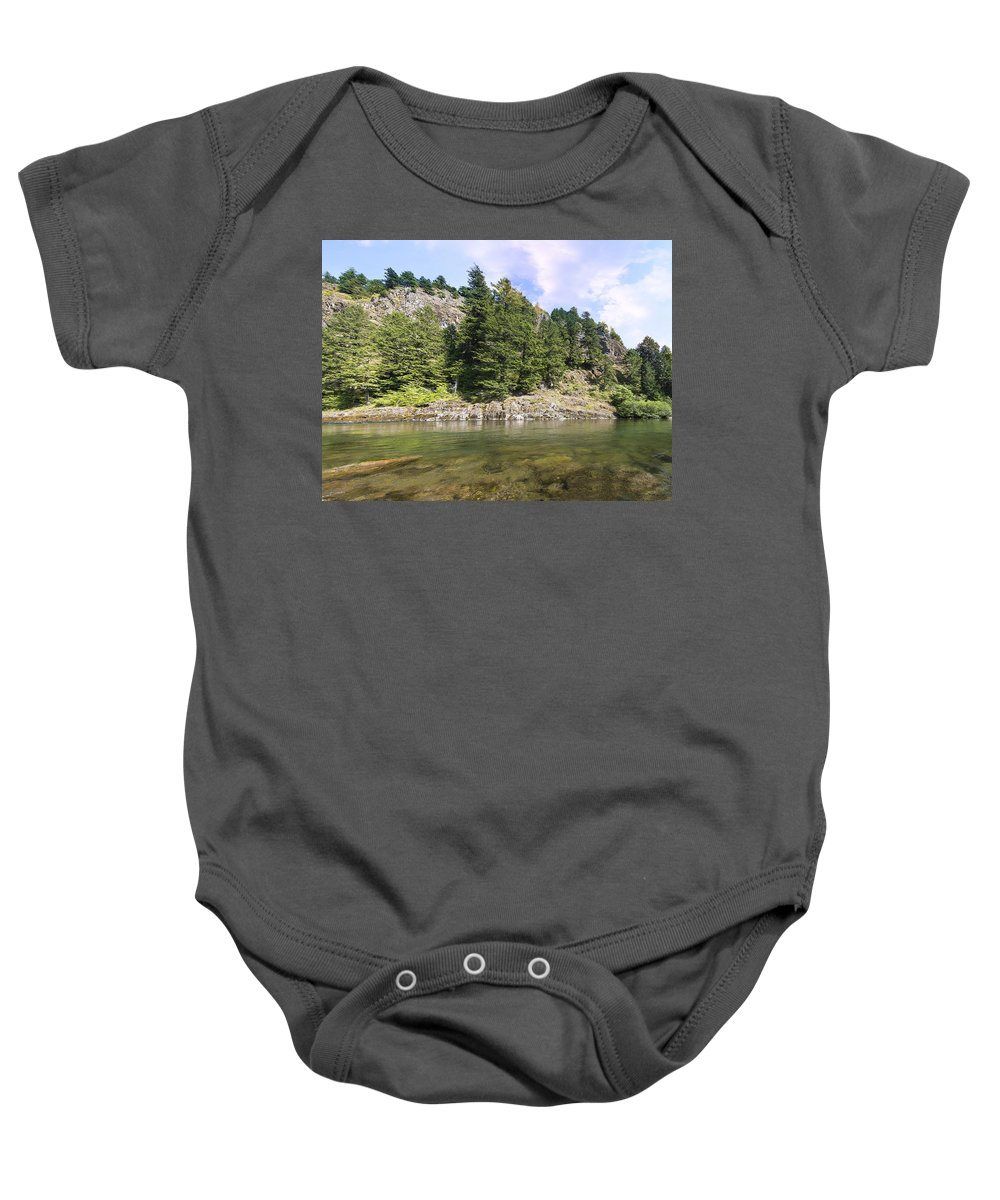 Lewis Baby Onesie featuring the photograph Lewis River Landscape by Jit Lim