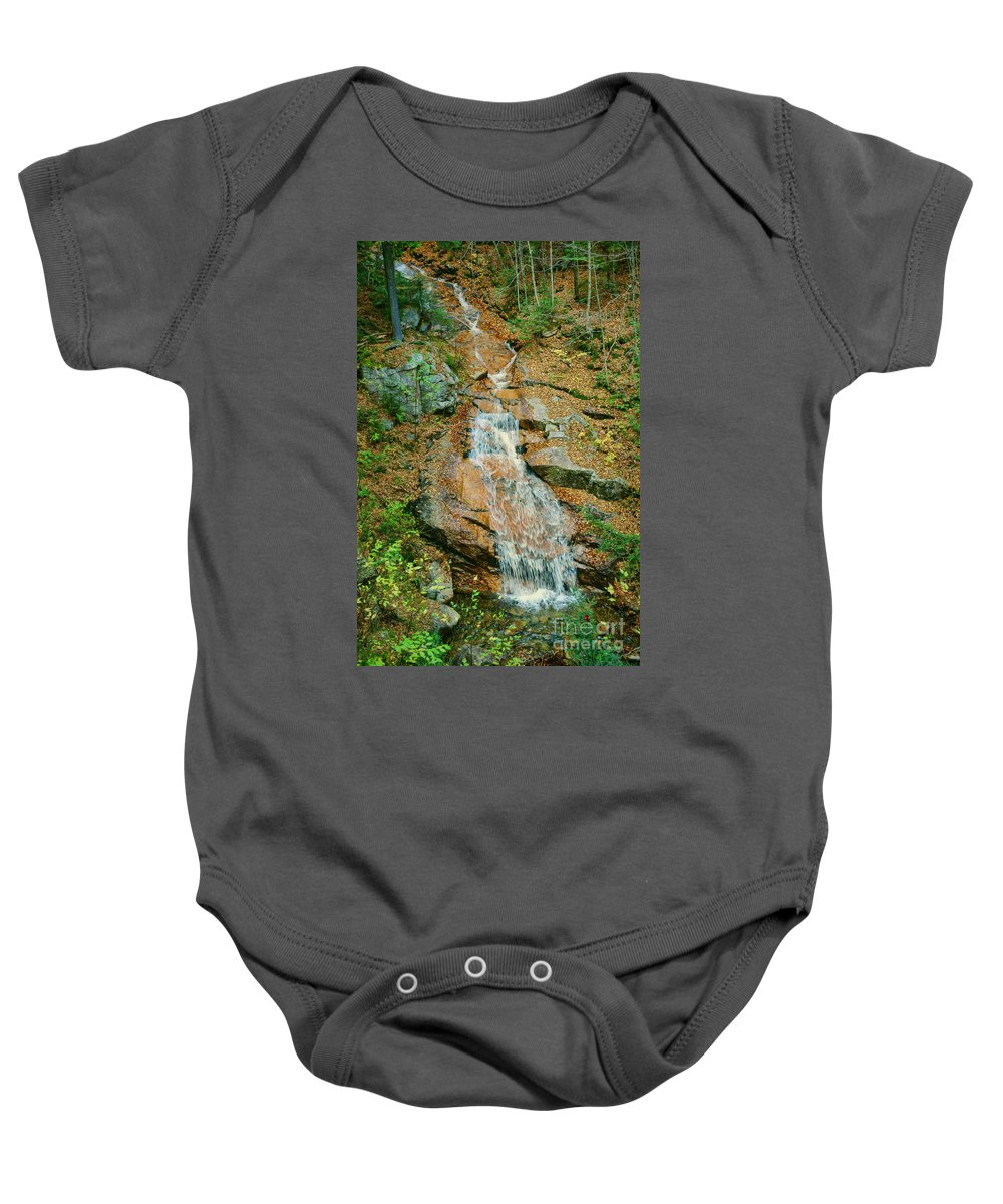 Liberty Baby Onesie featuring the photograph Liberty Gorge Falls by Nikolyn McDonald
