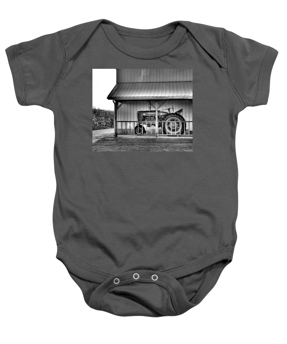 Tractor Baby Onesie featuring the photograph Life On The Farm by Dan Sproul