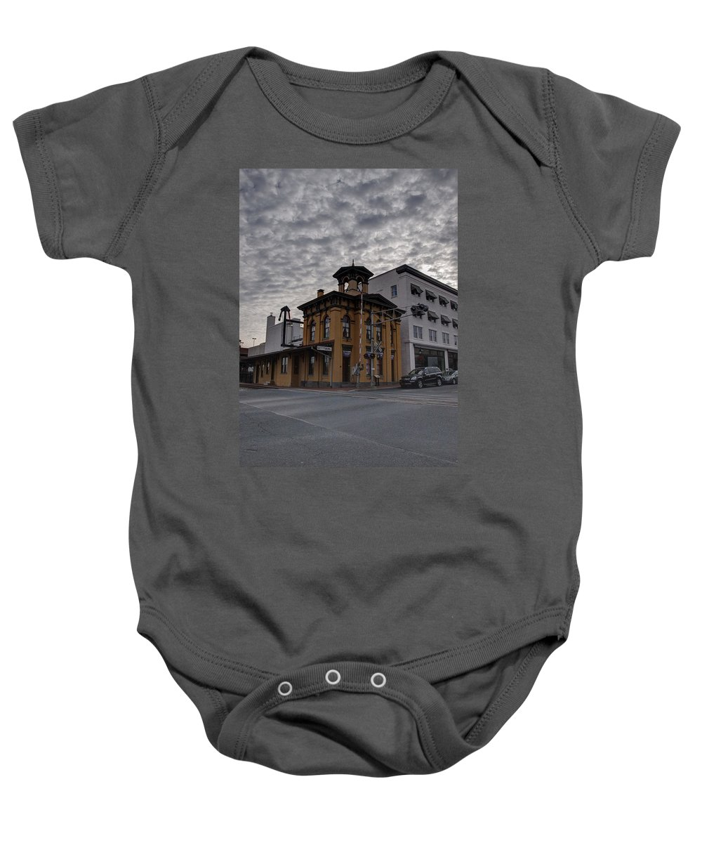Joshua House Photography Baby Onesie featuring the photograph Lincoln Train Station by Joshua House
