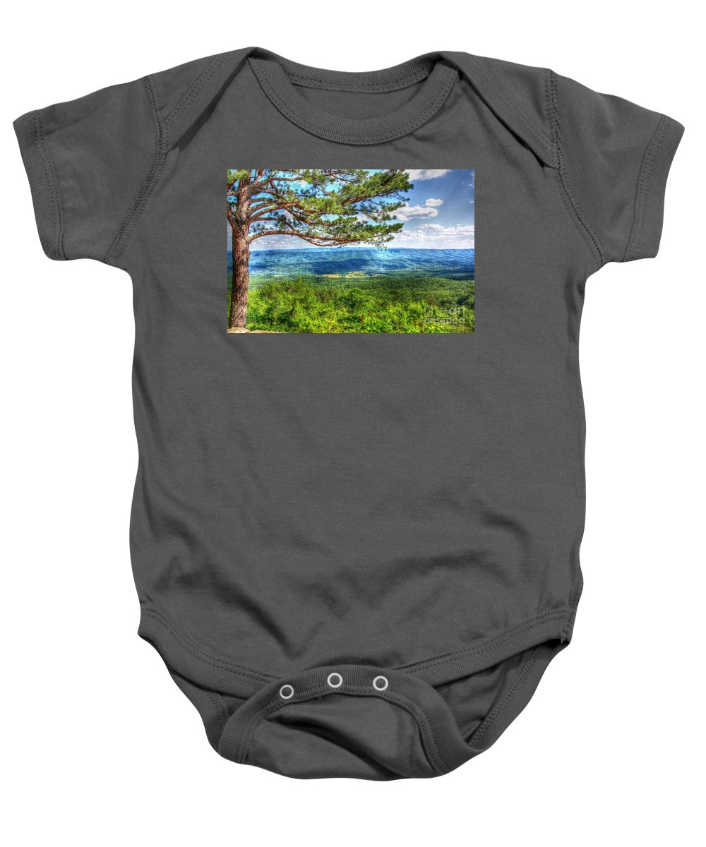 Pine Baby Onesie featuring the photograph Lonesome Pine by Dan Stone