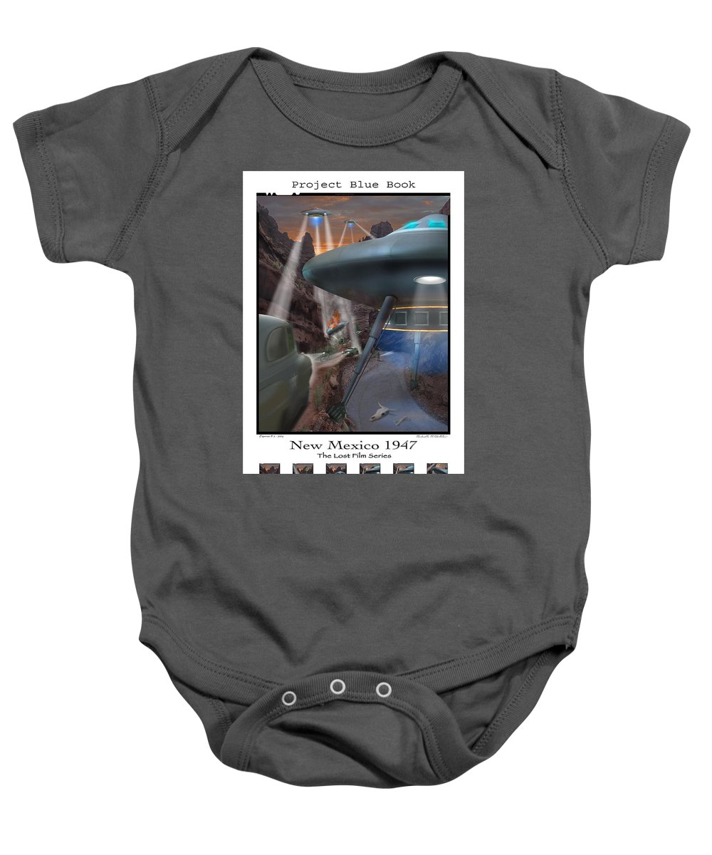 Surrealism Baby Onesie featuring the photograph Lost Film Number 5 Se by Mike McGlothlen