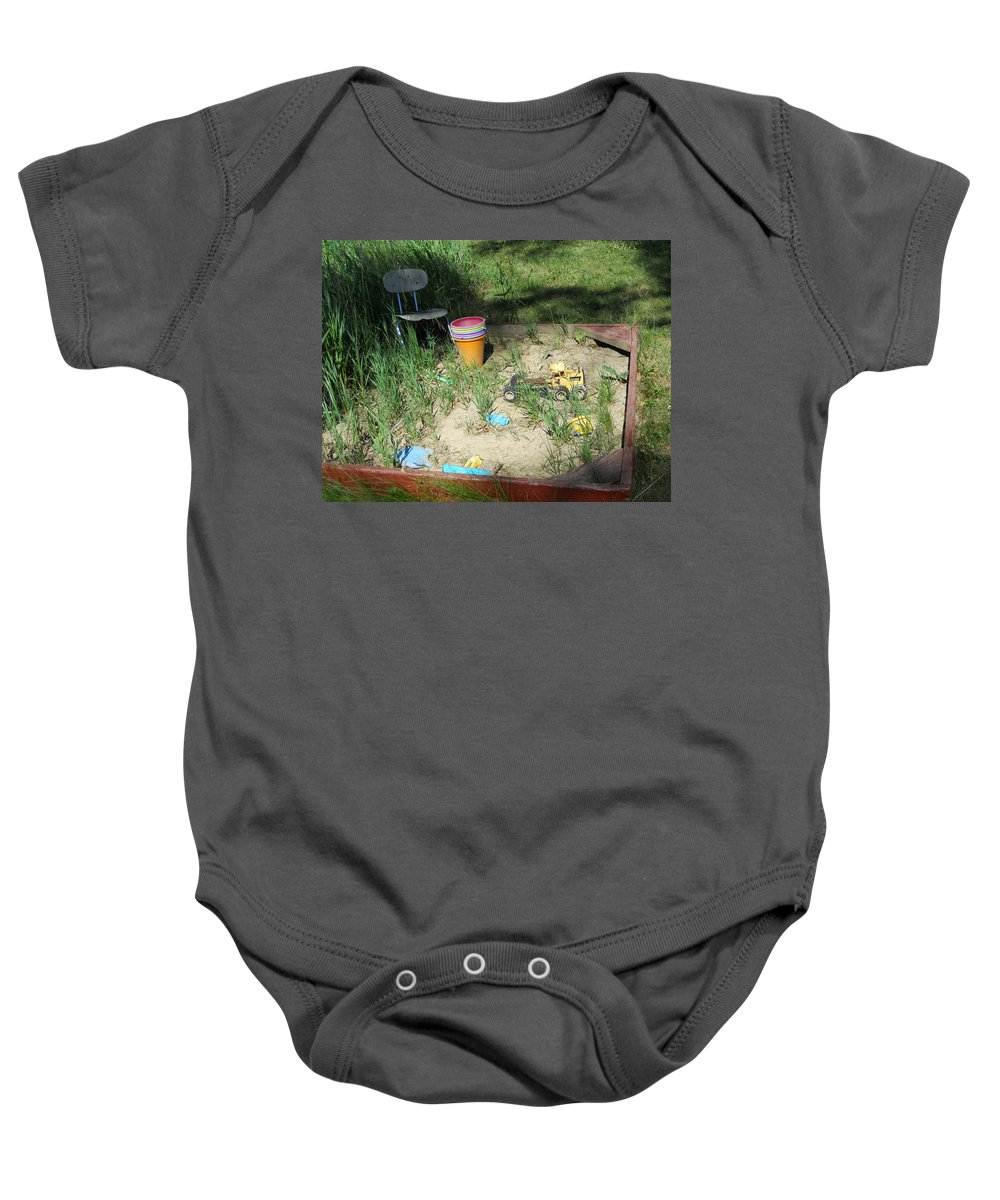 Sandbox Baby Onesie featuring the photograph Lost In Time by Coleen Harty