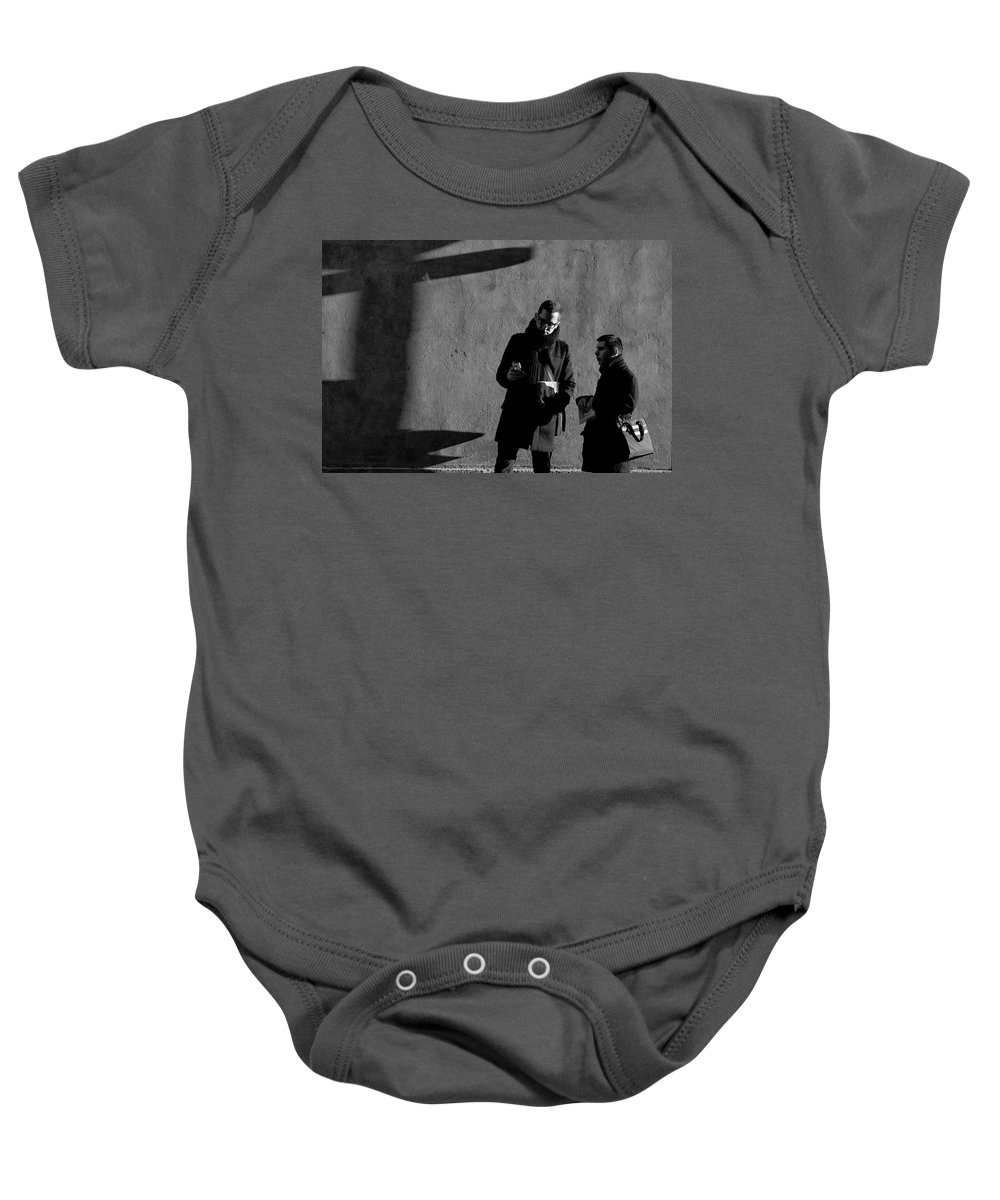 B&w Baby Onesie featuring the photograph Lost by Jean-Philippe Jouve