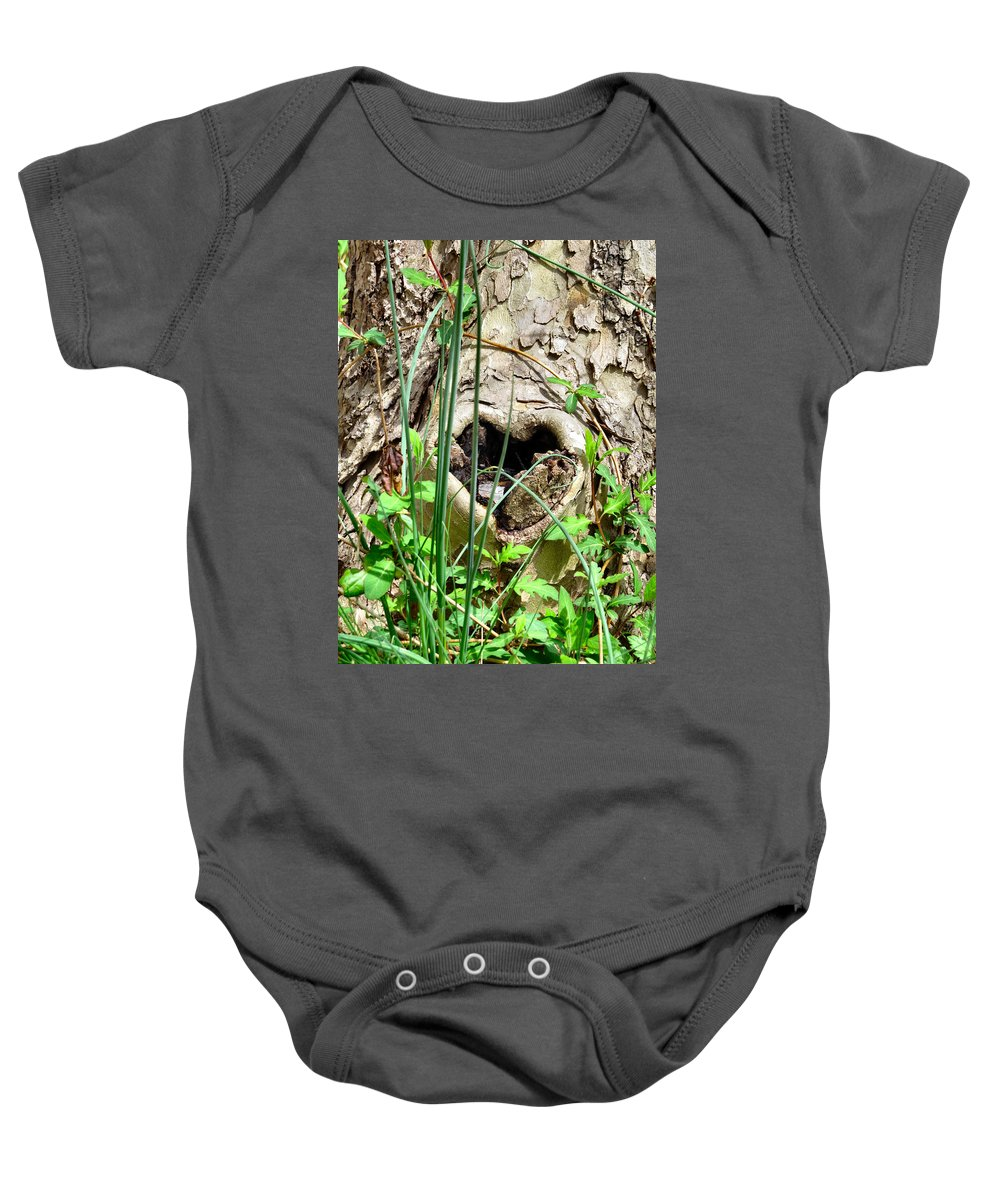 Heart Baby Onesie featuring the photograph Love In All Things by Art Dingo