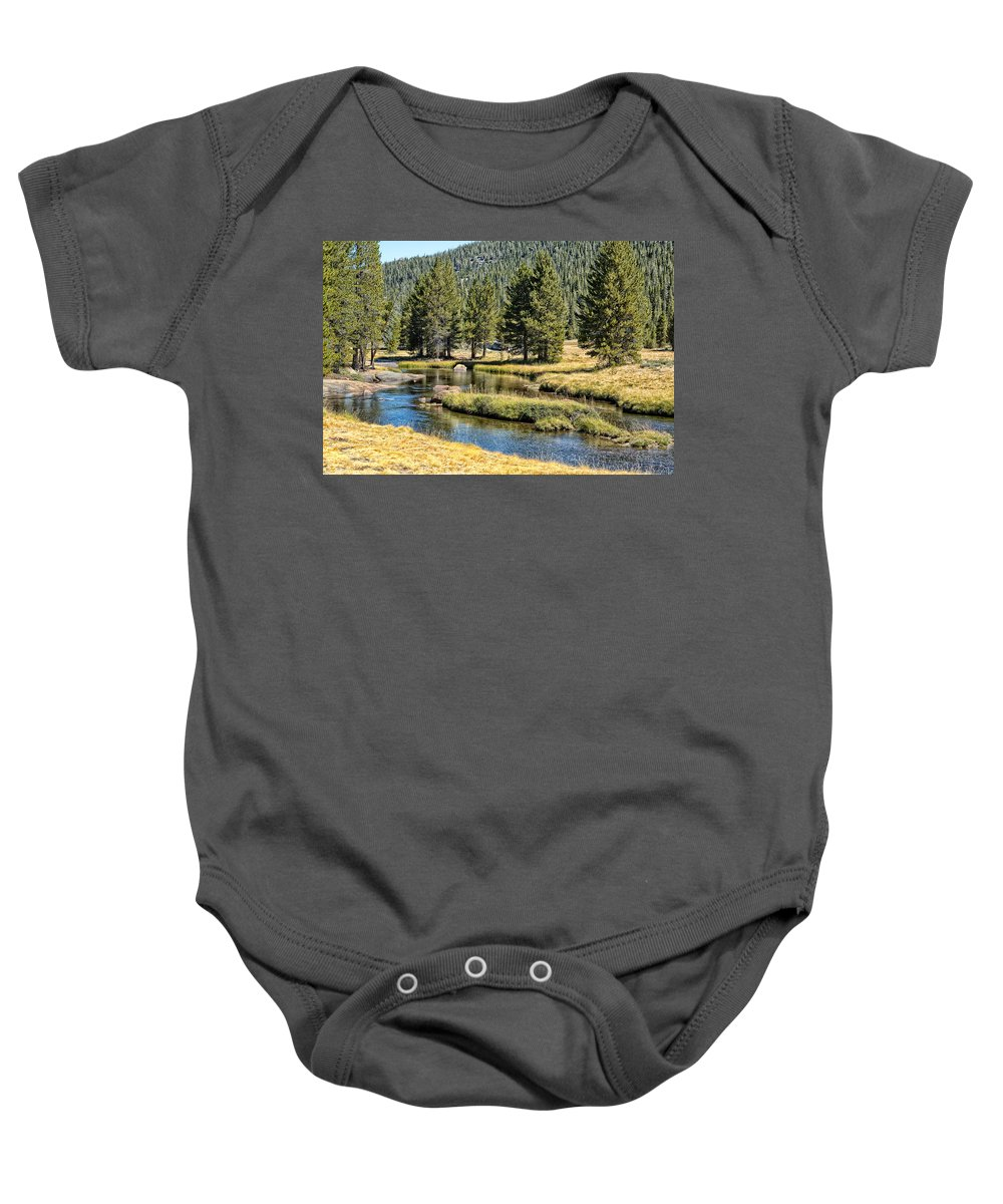 John Muir Trail Baby Onesie featuring the photograph Lyell Canyon by Shauna Milton