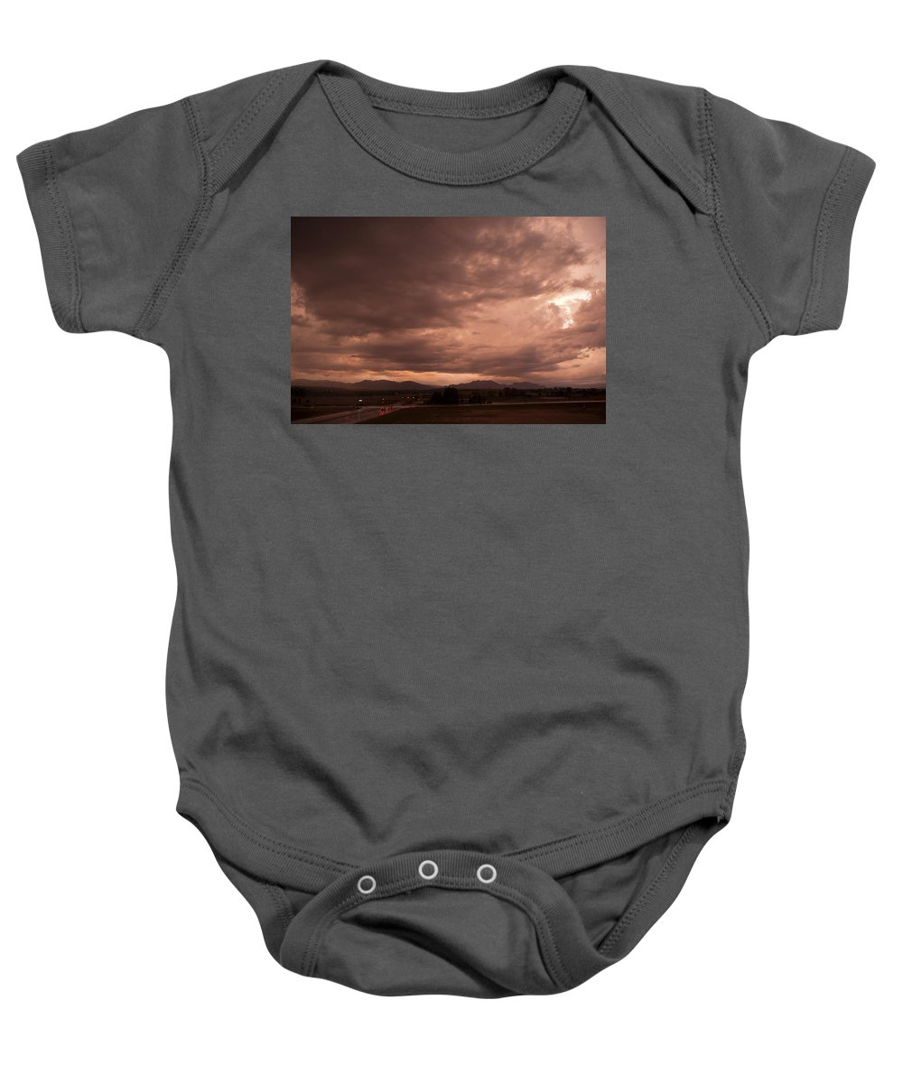 Magenta Baby Onesie featuring the photograph Magenta Clouds by Marilyn Hunt