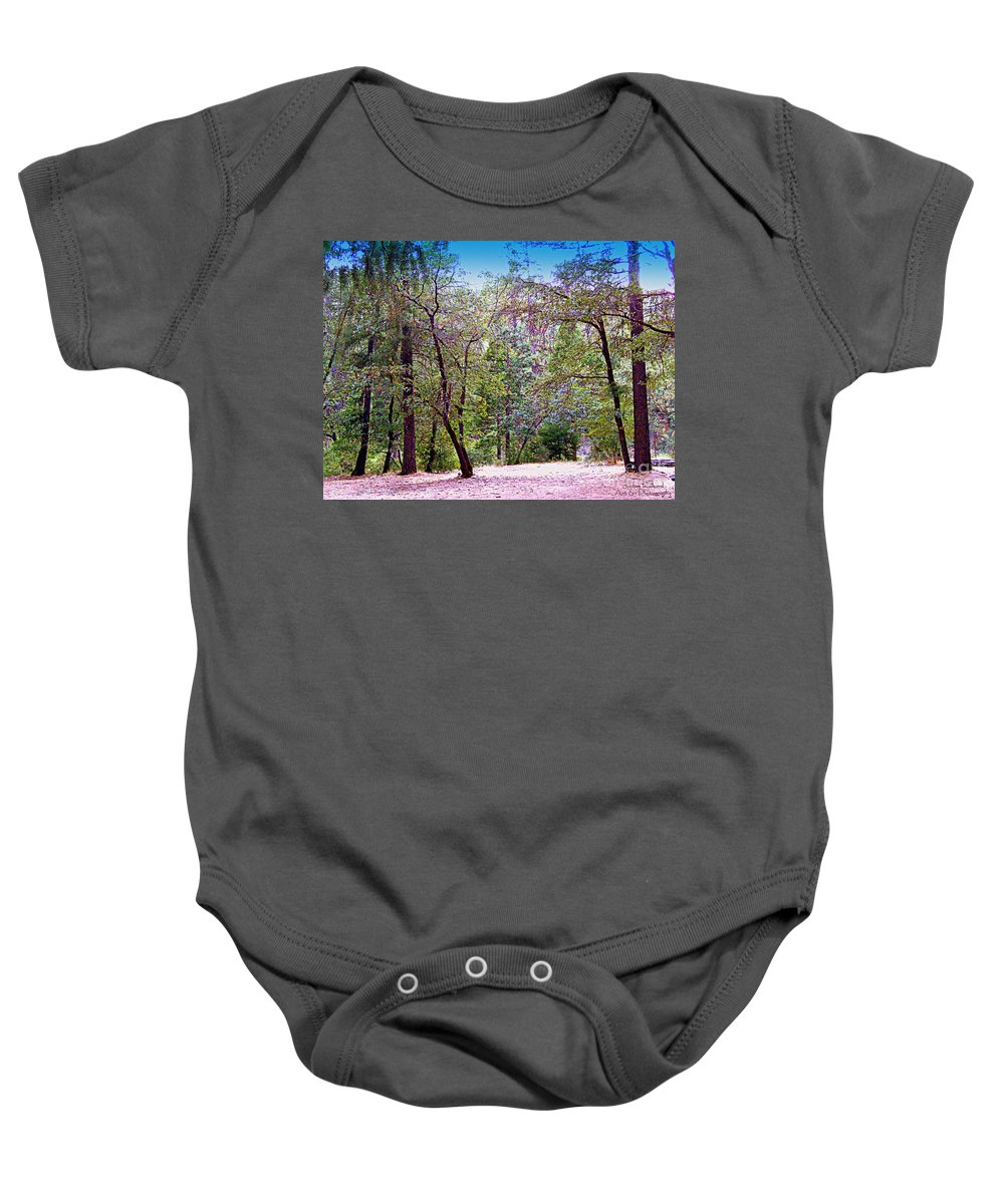 Acrylic Prints Baby Onesie featuring the photograph Magical Forest by Bobbee Rickard