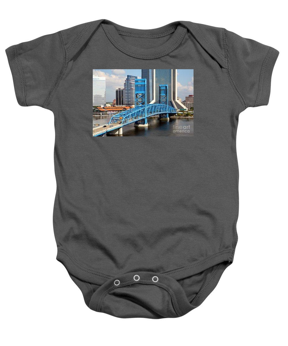 Florida Baby Onesie featuring the photograph Main Street Bridge Jacksonville Florida by Bill Cobb