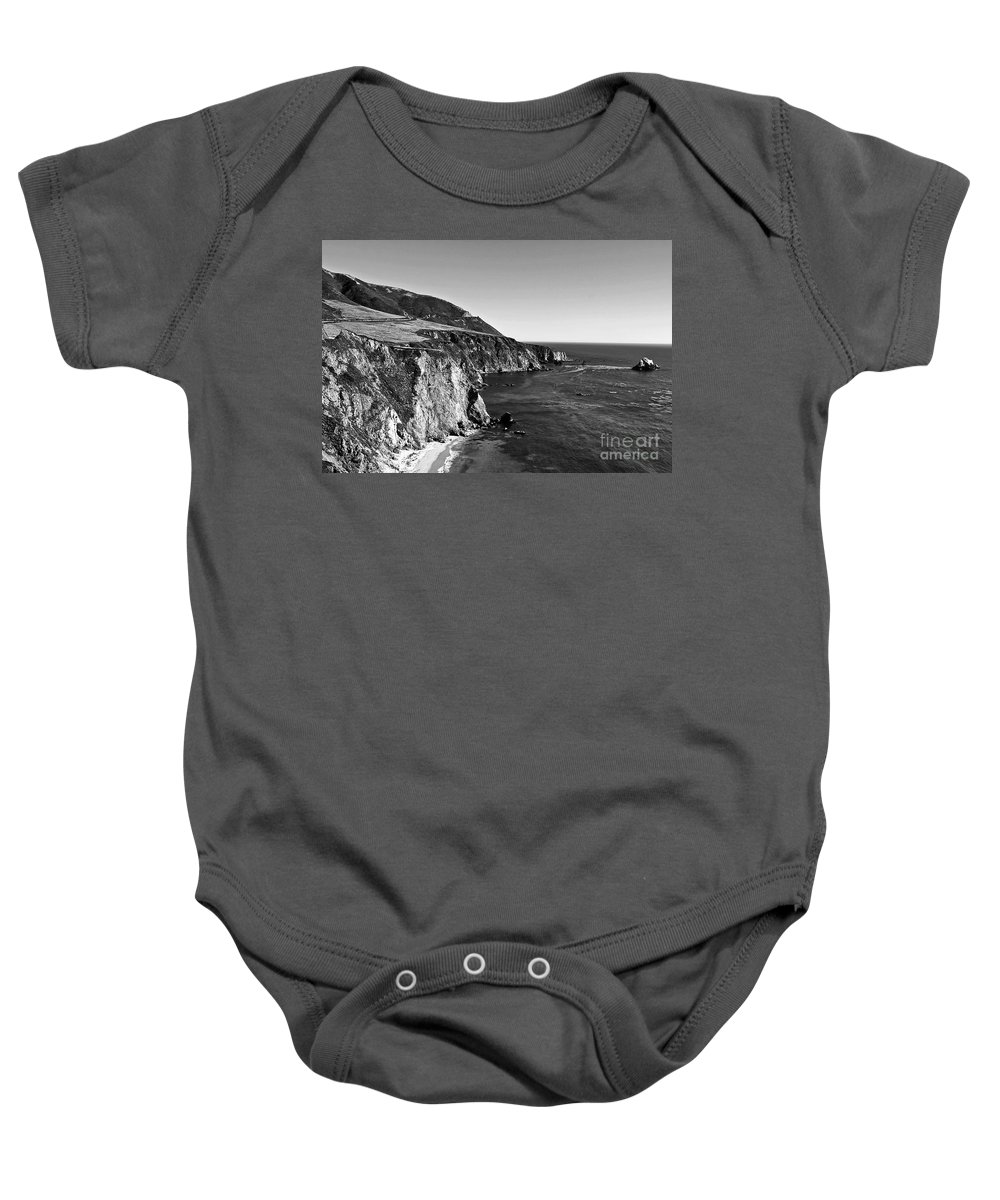 Black&white Baby Onesie featuring the photograph Majestic Coast by Scott Pellegrin