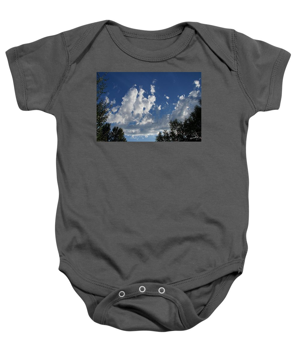 Majestic Baby Onesie featuring the photograph Majestic Sky - Building Cumulus by Mick Anderson