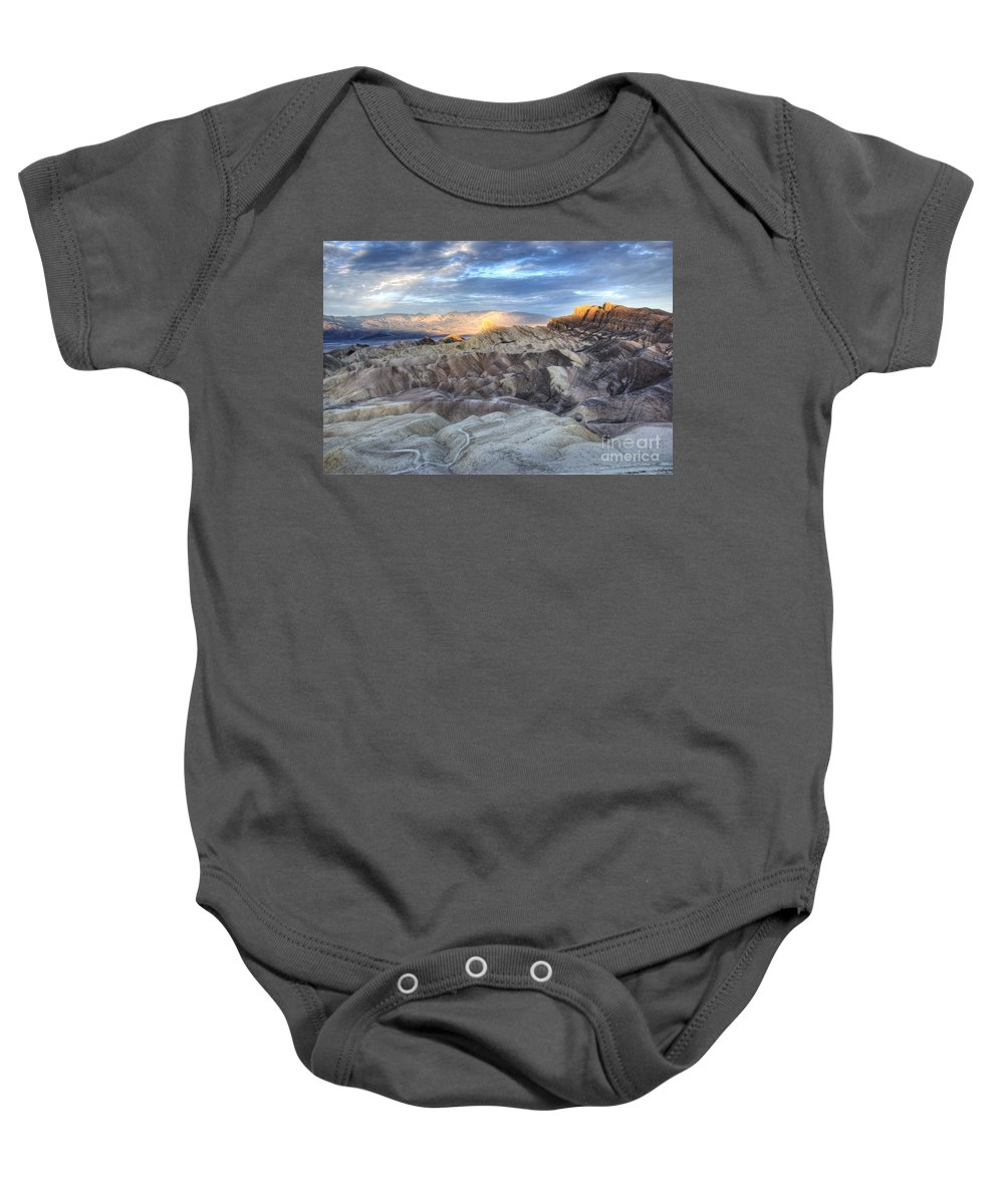 America Baby Onesie featuring the photograph Manly Beacon by Juli Scalzi