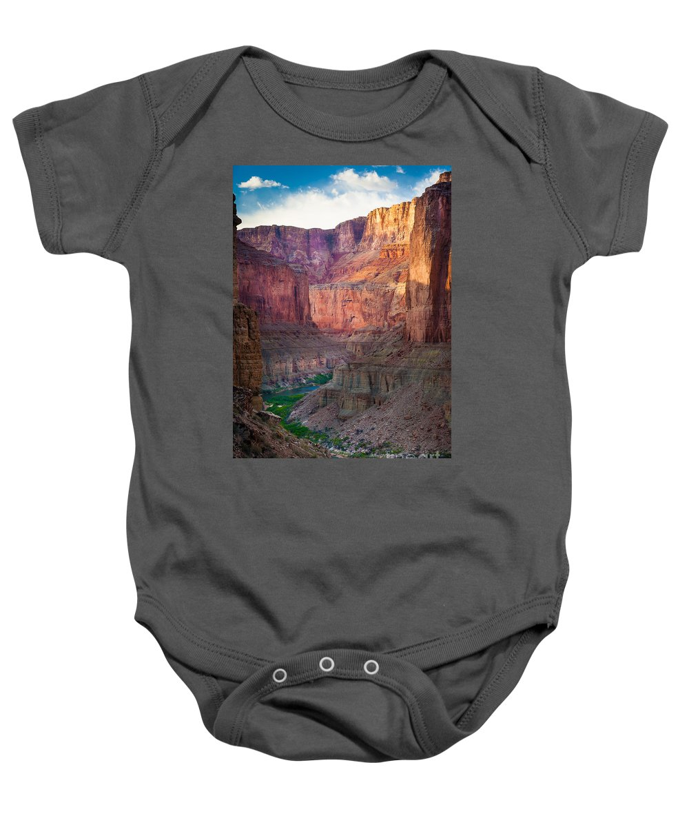 America Baby Onesie featuring the photograph Marble Cliffs by Inge Johnsson