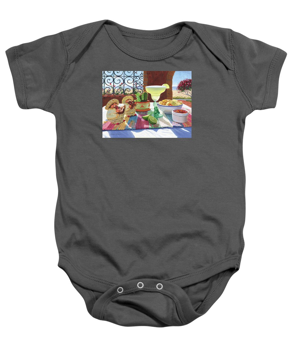 Cocktail Baby Onesie featuring the painting Mariachi Margarita by Steve Simon
