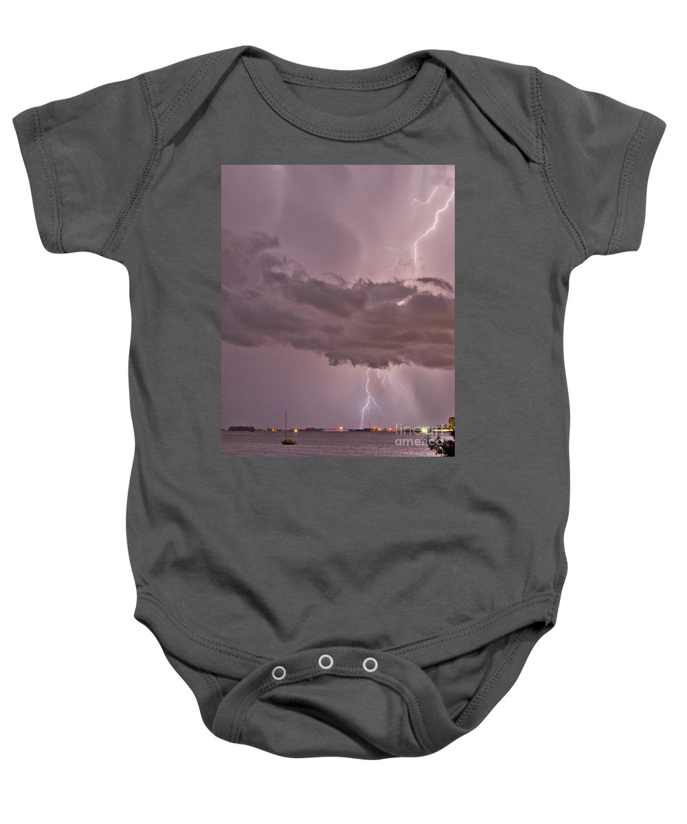 Florida Baby Onesie featuring the photograph Mauve Madness by Stephen Whalen