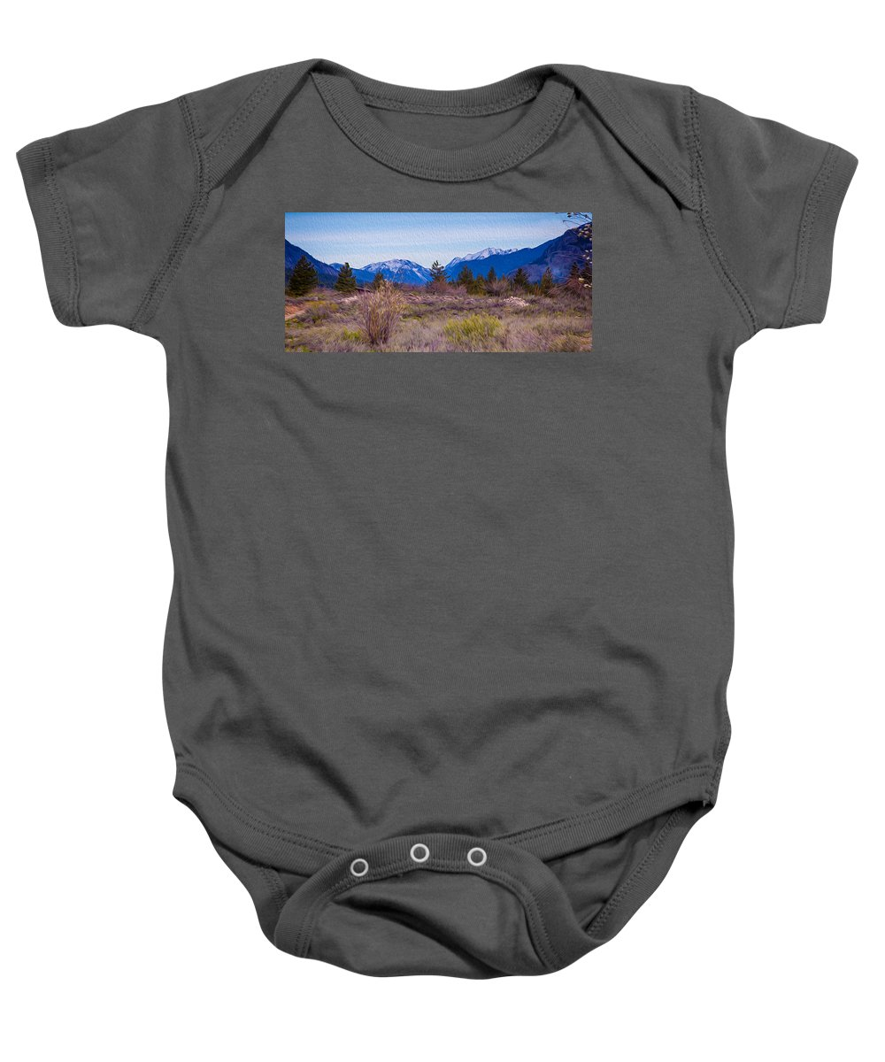 North Cascades Baby Onesie featuring the photograph Mazama From Wolf Creek by Omaste Witkowski
