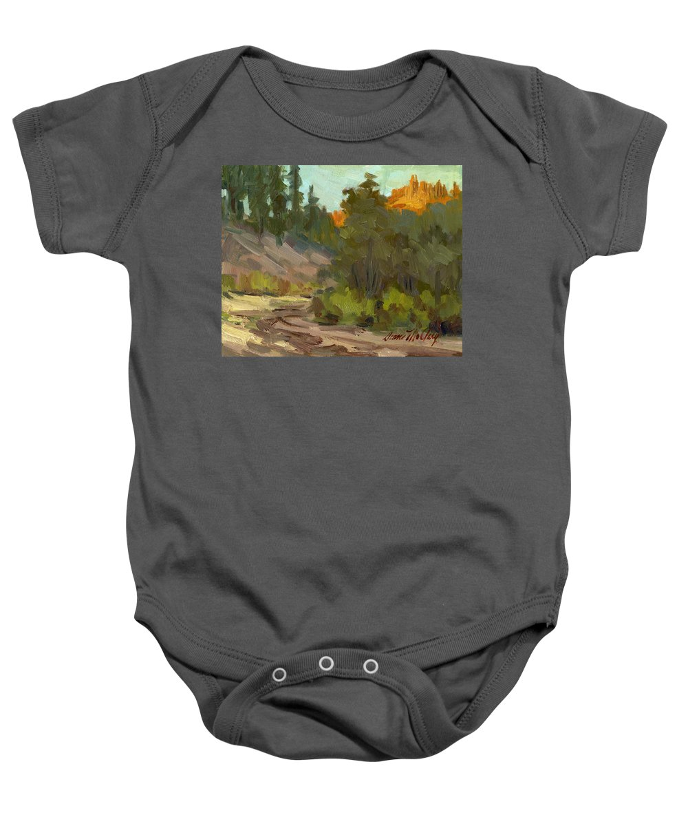 Farm Baby Onesie featuring the painting Mcclary Art Farm by Diane McClary