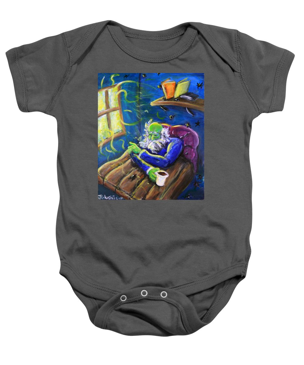 Baby Onesie featuring the painting Melancholy by Jason Gluskin