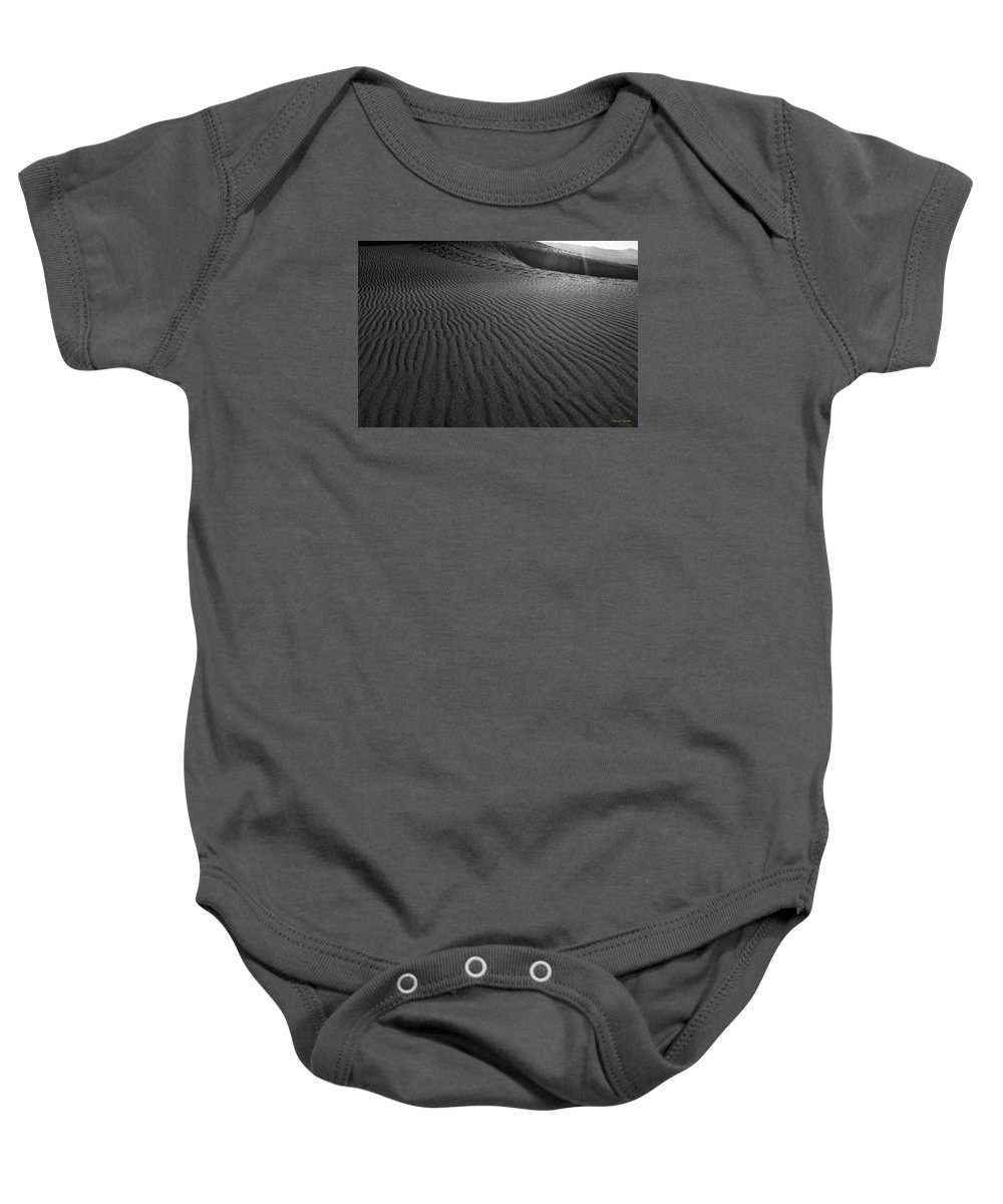 Mesquite Sand Dunes Baby Onesie featuring the photograph Mesquite Sand Dunes by Angela Stanton