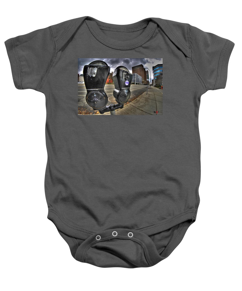 Michael Frank Jr Baby Onesie featuring the photograph Meter Demons by Michael Frank Jr