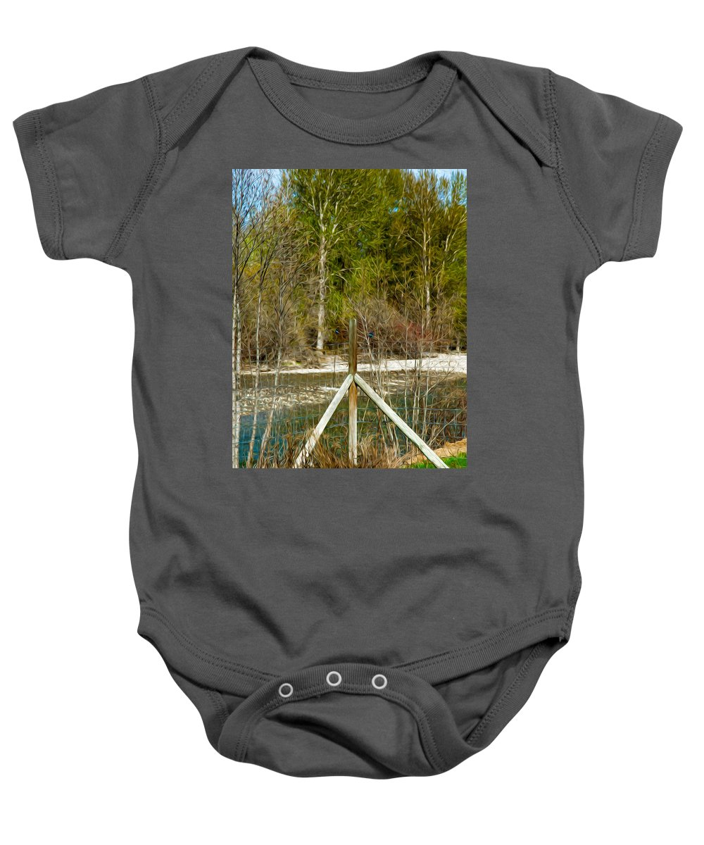 North Cascades Baby Onesie featuring the photograph Methow River Springtime by Omaste Witkowski