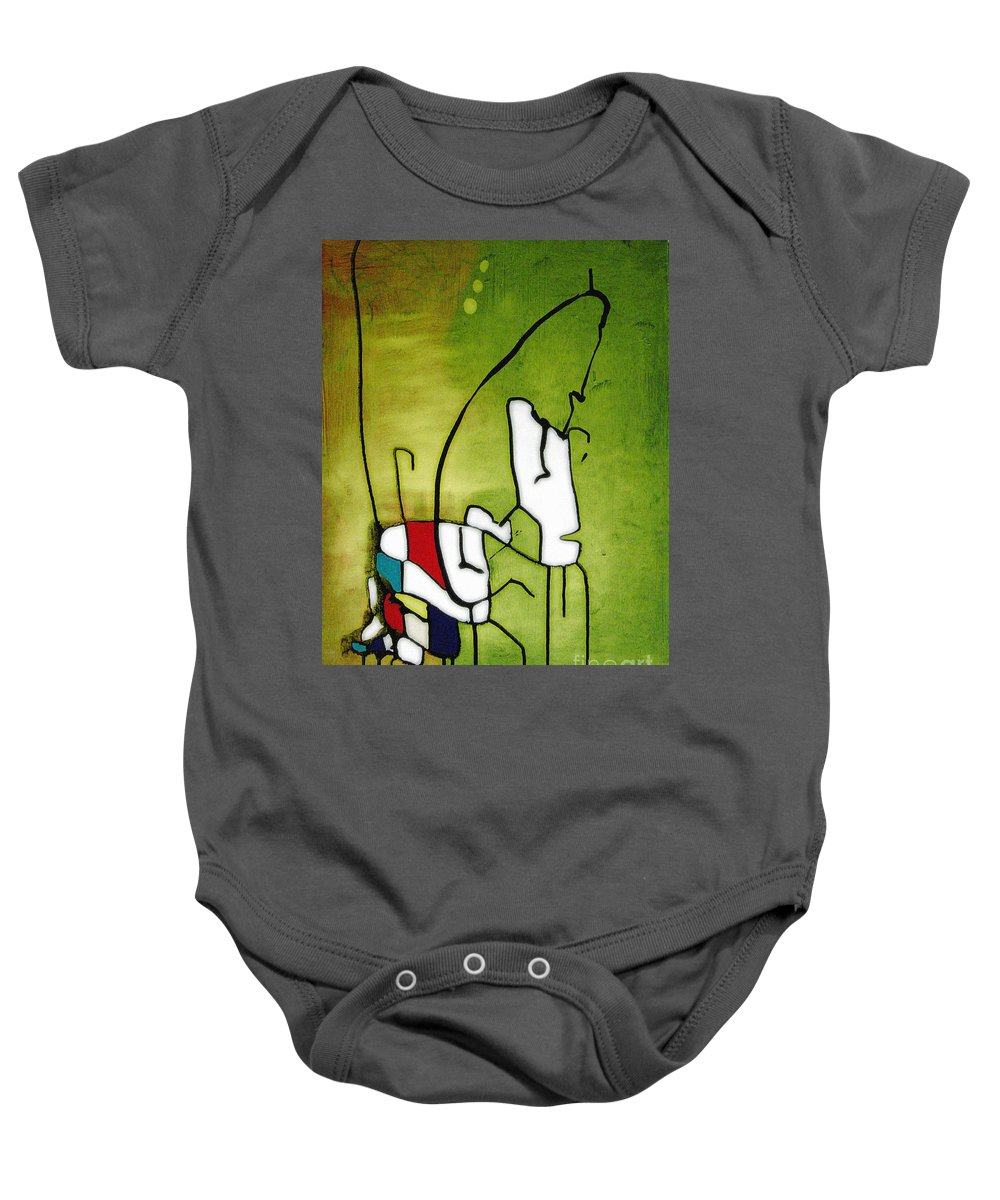 Painting Baby Onesie featuring the painting Mi Caballo 2 by Jeff Barrett