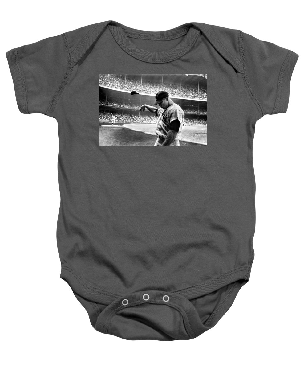 Mickey Mantle Baby Onesies