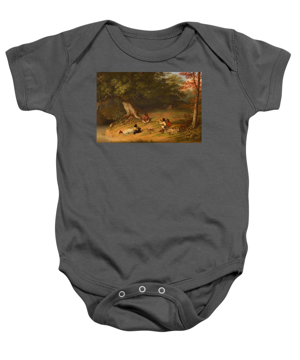 Painting Baby Onesie featuring the painting Midday Rest by Mountain Dreams