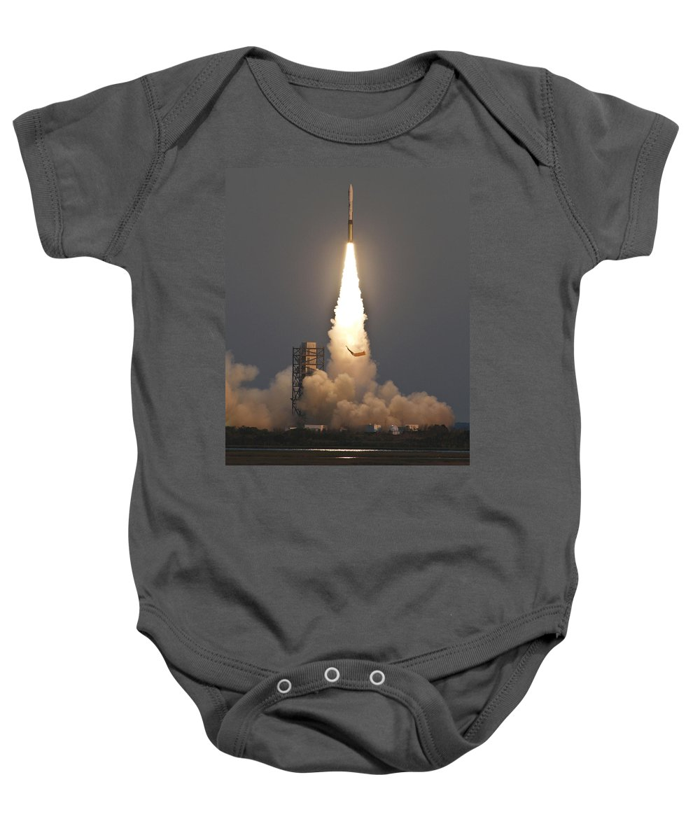 Astronomy Baby Onesie featuring the photograph Minotaur I Launch by Science Source