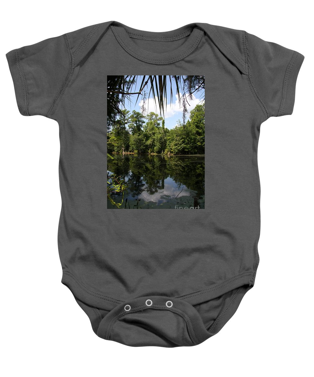 Lake Baby Onesie featuring the photograph Mirrow Lake - Magnolia Gardens by Christiane Schulze Art And Photography