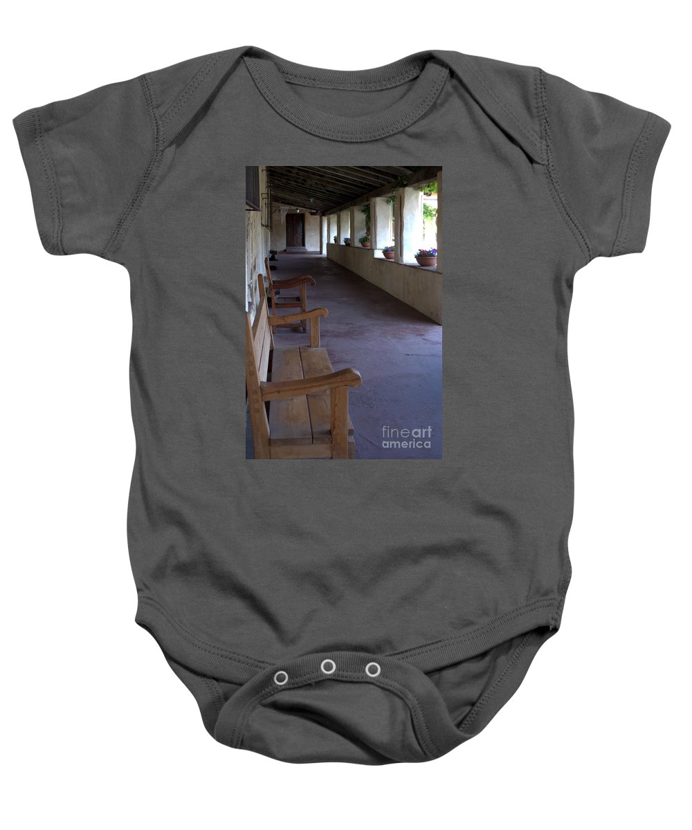 Mission Carmel Baby Onesie featuring the photograph Mission Carmel by John Greco