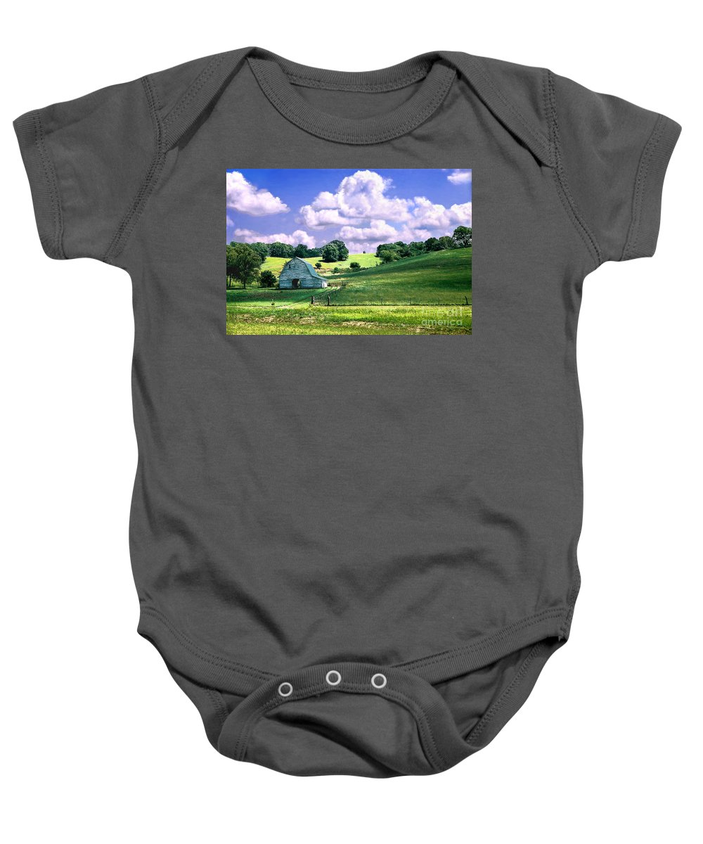 Landscape Baby Onesie featuring the photograph Missouri River Valley by Steve Karol