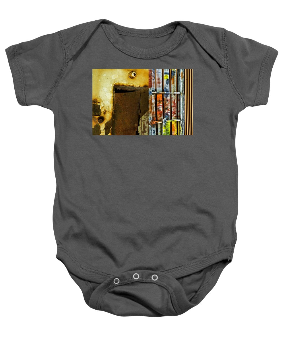 Abstract Baby Onesie featuring the photograph Mixed Elements Two by Fran Riley
