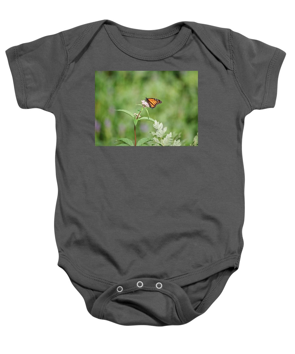 Butterfly Baby Onesie featuring the photograph Monarch by David Porteus