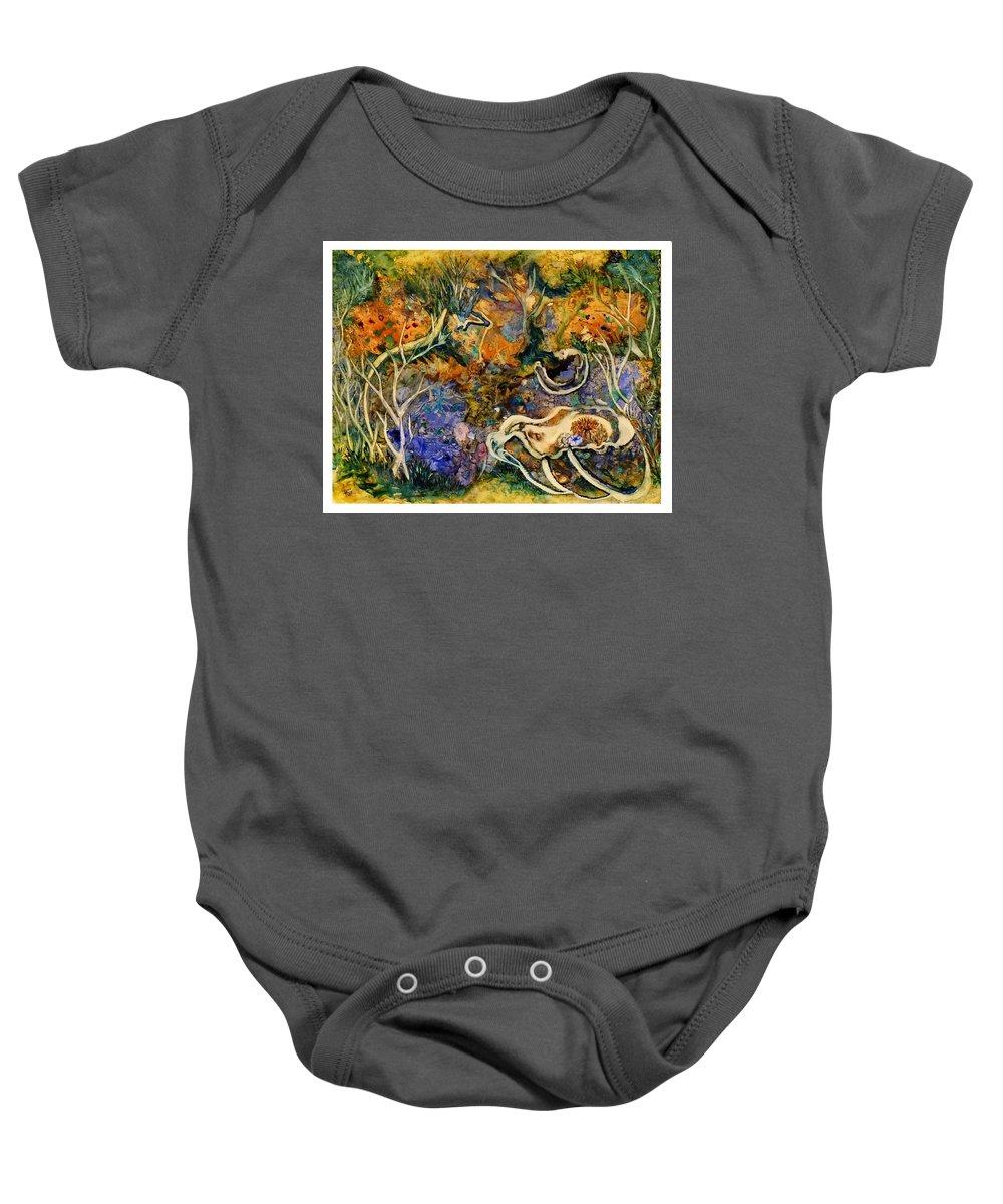 Ksg Baby Onesie featuring the painting Monet Under Water by Kim Shuckhart Gunns