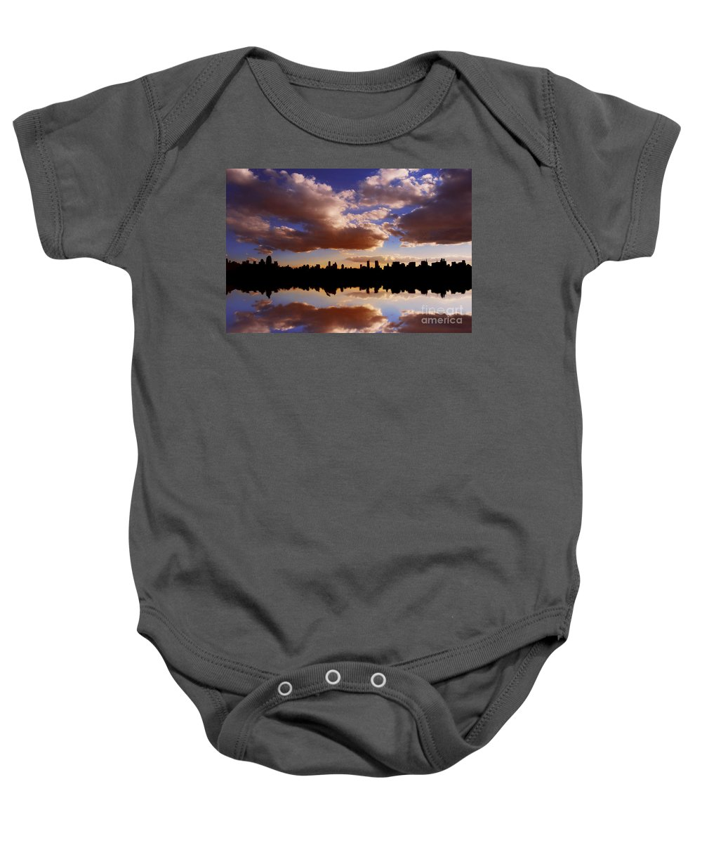 New York City Baby Onesie featuring the photograph Morning At The Reservoir New York City Usa by Sabine Jacobs