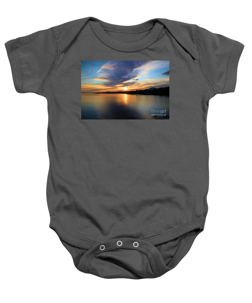 Port Angles Baby Onesie featuring the photograph Morning Mirror by Adam Jewell