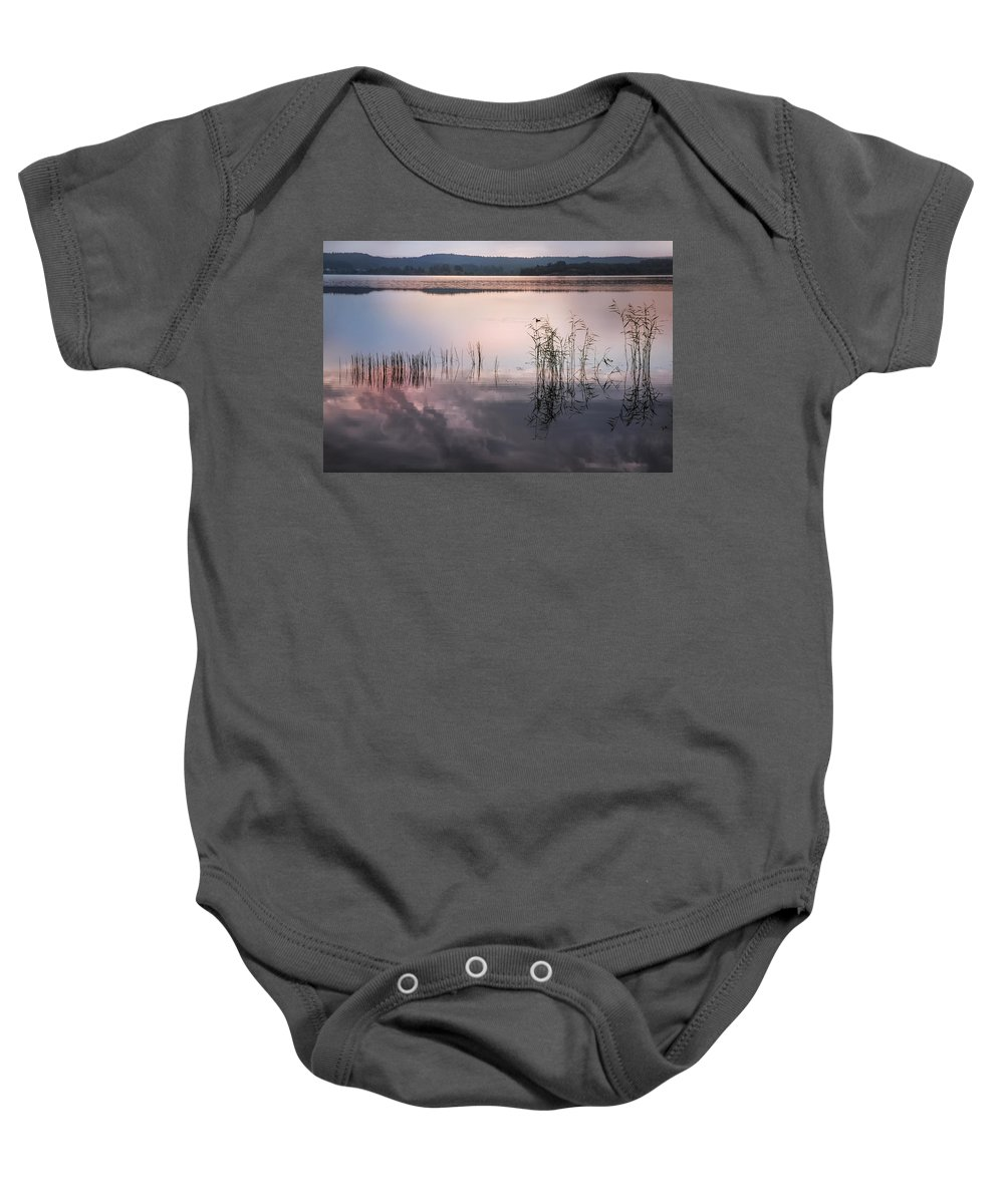 Nature Baby Onesie featuring the photograph Morning Nocturne. Ladoga Lake. Northern Russia by Jenny Rainbow